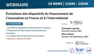 Évolutions des dispositifs du financement de l'innovation en France et à l'international @ France Innovation | Ivry-sur-Seine | Île-de-France | France