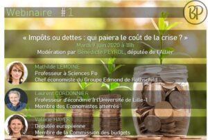 Webinar-débat : impôt ou dettes qui paiera le coût de la crise ? @ Événement en ligne