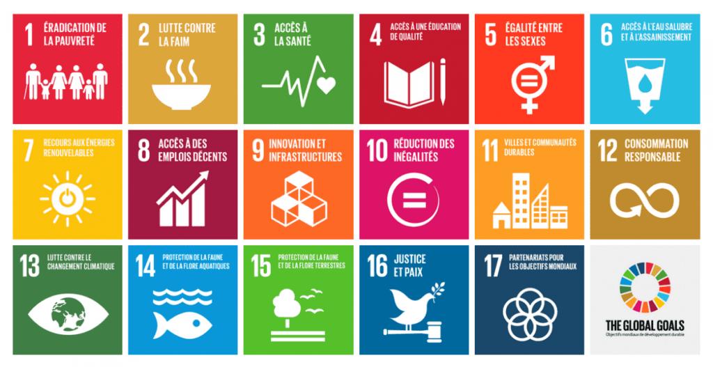 Les objectifs développement durable de l'ONU utilisés pour sélectionner et catégoriser les start-ups à impact