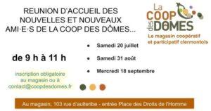 Réunion d'accueil des Nouvelles et Nouveaux ami·e·s de la Coop @ La Coop des Dômes | Clermont-Ferrand | Auvergne-Rhône-Alpes | France