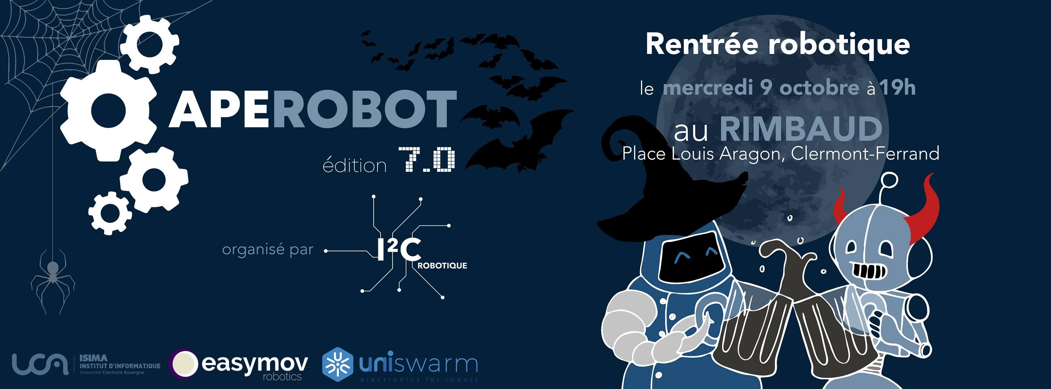 Aperobot Auvergne 7.0 - Rentrée Robotique @ Le Rimbaud | Colombes | Île-de-France | France