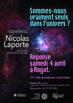 Sommes nous vraiment seuls dans l'Univers ? @ Salle de conférence - Casino de Royat | Royat | Auvergne-Rhône-Alpes | France