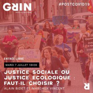 Après le Covid-19 (7/8): justice sociale ou justice écologique ? @ Grin | Clermont-Ferrand | Auvergne-Rhône-Alpes | France