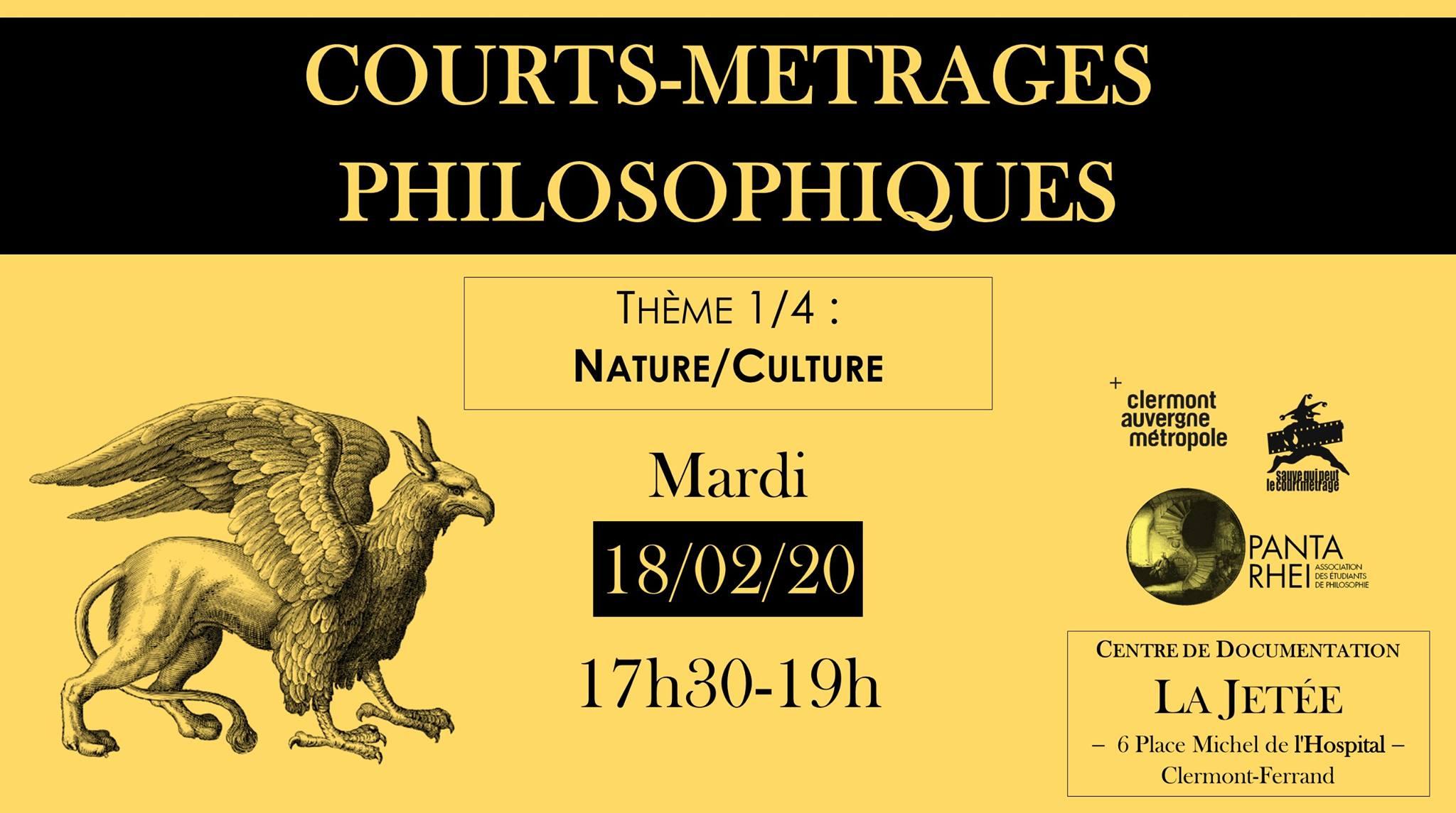 Courts-Metrages Philosophiques 1/4 - Nature / Culture @ Centre de documentation (La Jetée) | Clermont-Ferrand | Auvergne-Rhône-Alpes | France