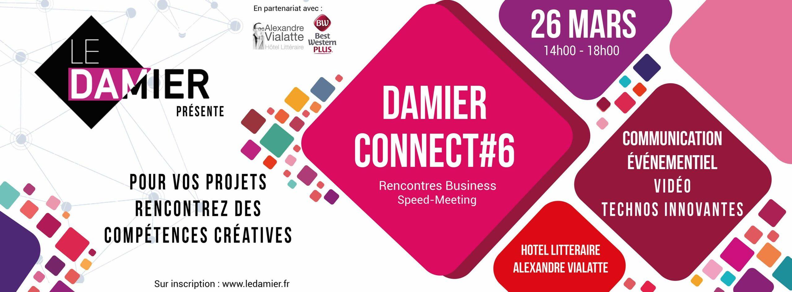 DAMIER Connect#6 @ Hôtel Littéraire Alexandre Vialatte | Clermont-Ferrand | Auvergne-Rhône-Alpes | France