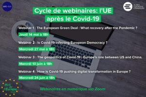 Cycle de webinaires: l'UE après le Covid-19