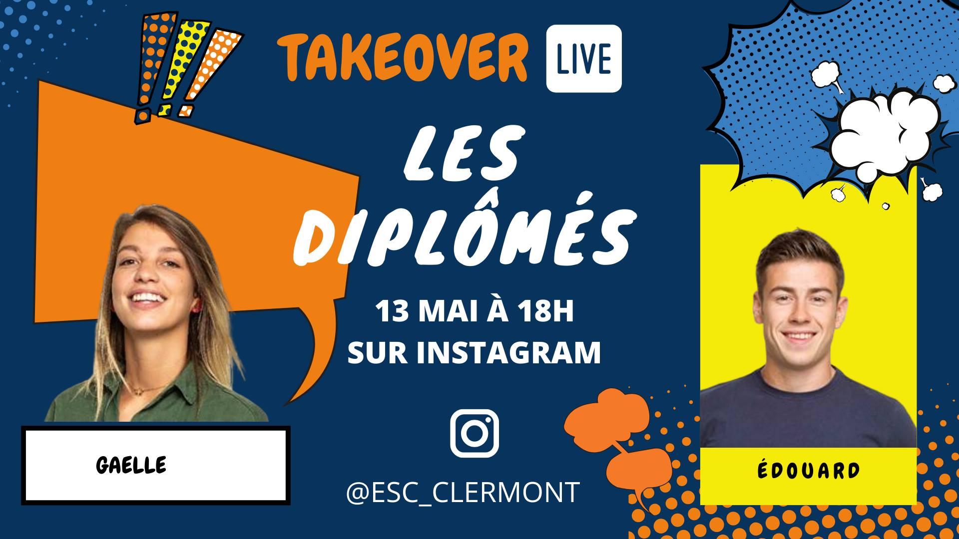 TakeOver Instagram avec Gaëlle et Edouard, promo 2019 @ Événement en ligne