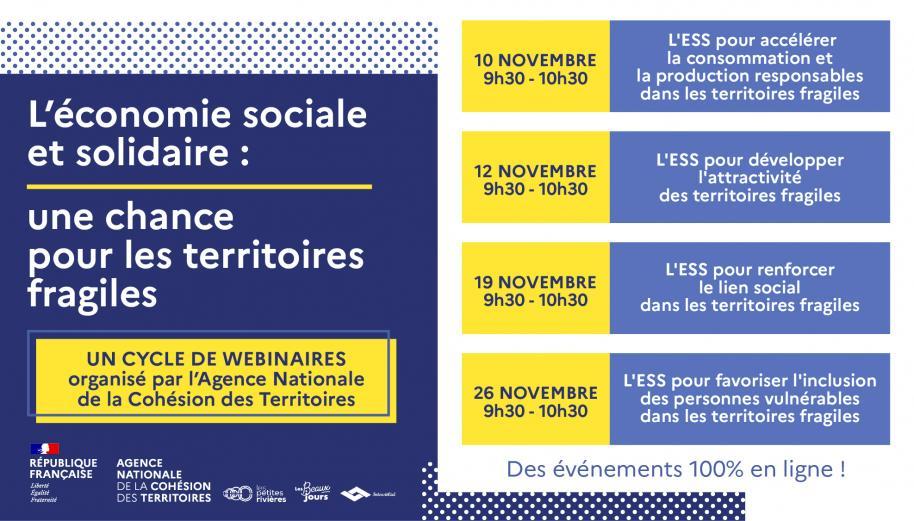 [EN LIGNE] L'économie Sociale et Solidaire : une chance pour les territoires fragiles @ En Ligne