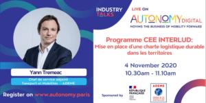 Salon Autonomy - Programme CEE INTERLUD: Mise en place de charte logistique durable dans les territoires @ En Ligne