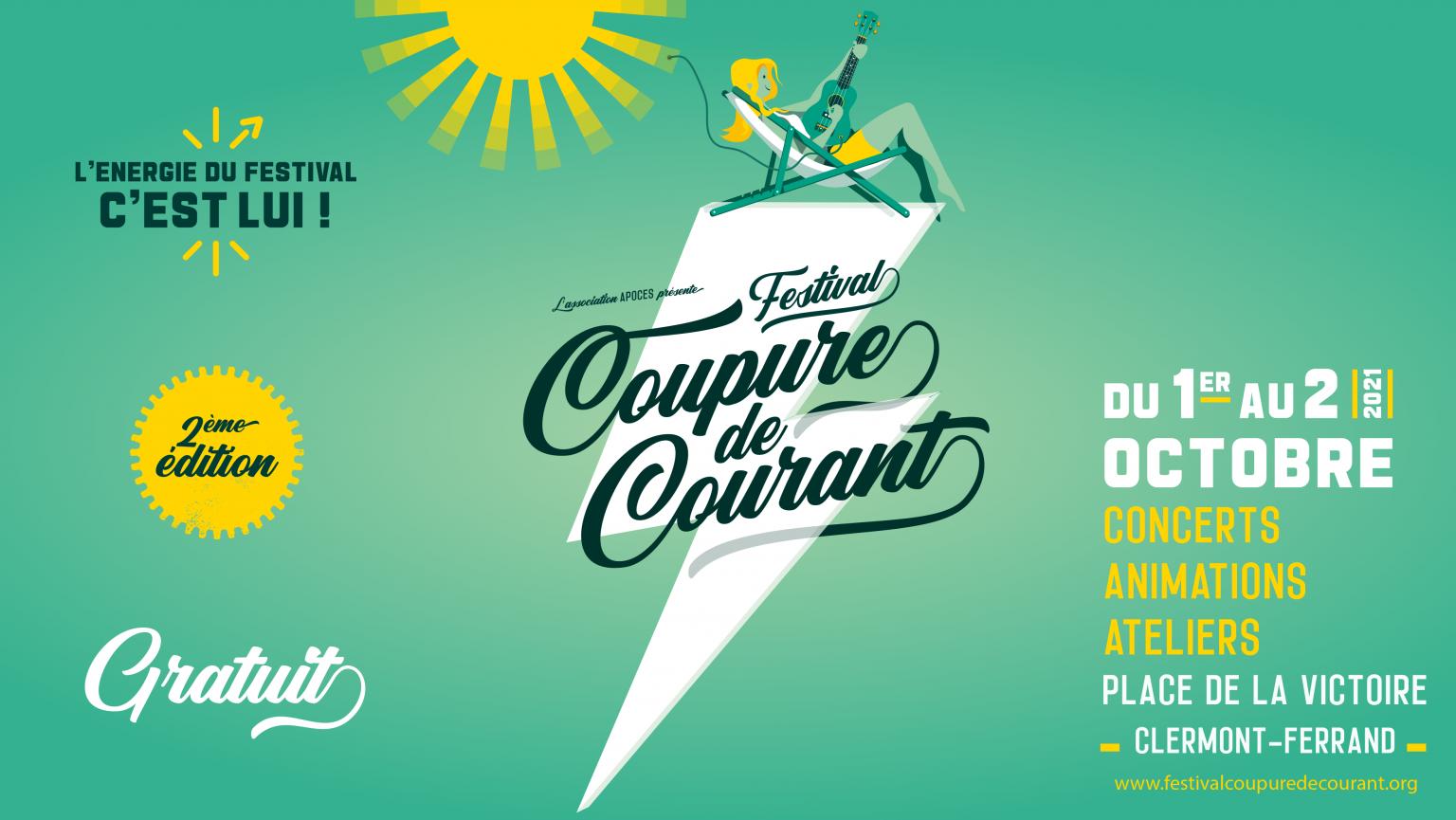 FESTIVAL COUPURE DE COURANT // 2ème édition @ PLACE DE LA VICTOIRE   Clermont-Ferrand   Auvergne-Rhône-Alpes   France