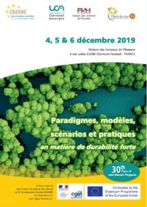 Paradigmes, modèles, scénarios et pratiques en matière de durabilité forte @ aison des Sciences de l'Homme,   Clermont-Ferrand   Auvergne-Rhône-Alpes   France