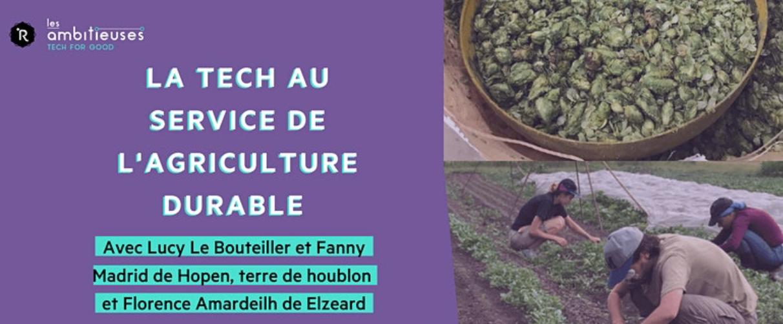 [EN LIGNE] La Tech au service de l'agriculture durable @ EN LIGNE