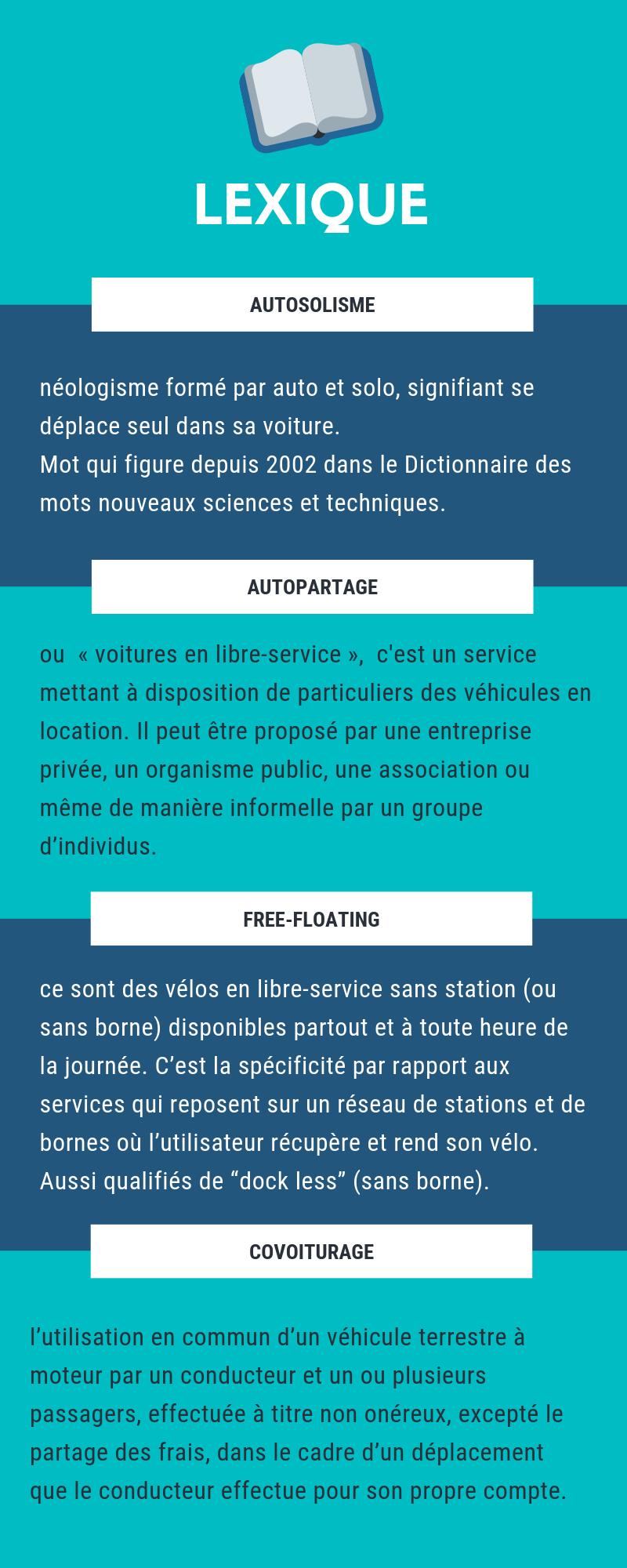 Lexique sur les mobilités