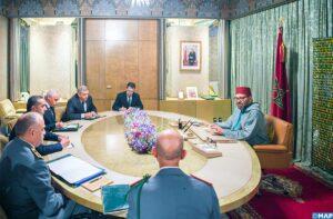 Sa majesté le Roi Mohamed VI préside une séance de travail consacrée au suivi de la gestion de la propagation de la pandémie du Coronavirus
