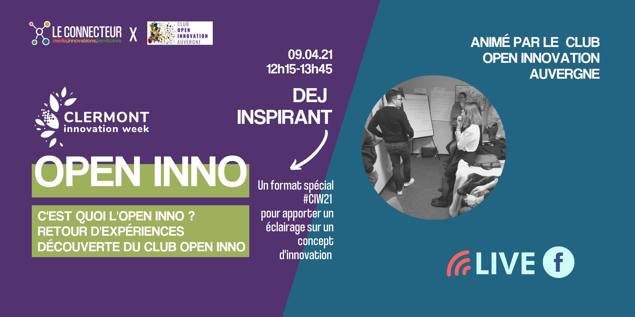 Open Inno Découverte #Dej'Inspirant @ Turing 22 | Clermont-Ferrand | Auvergne-Rhône-Alpes | France