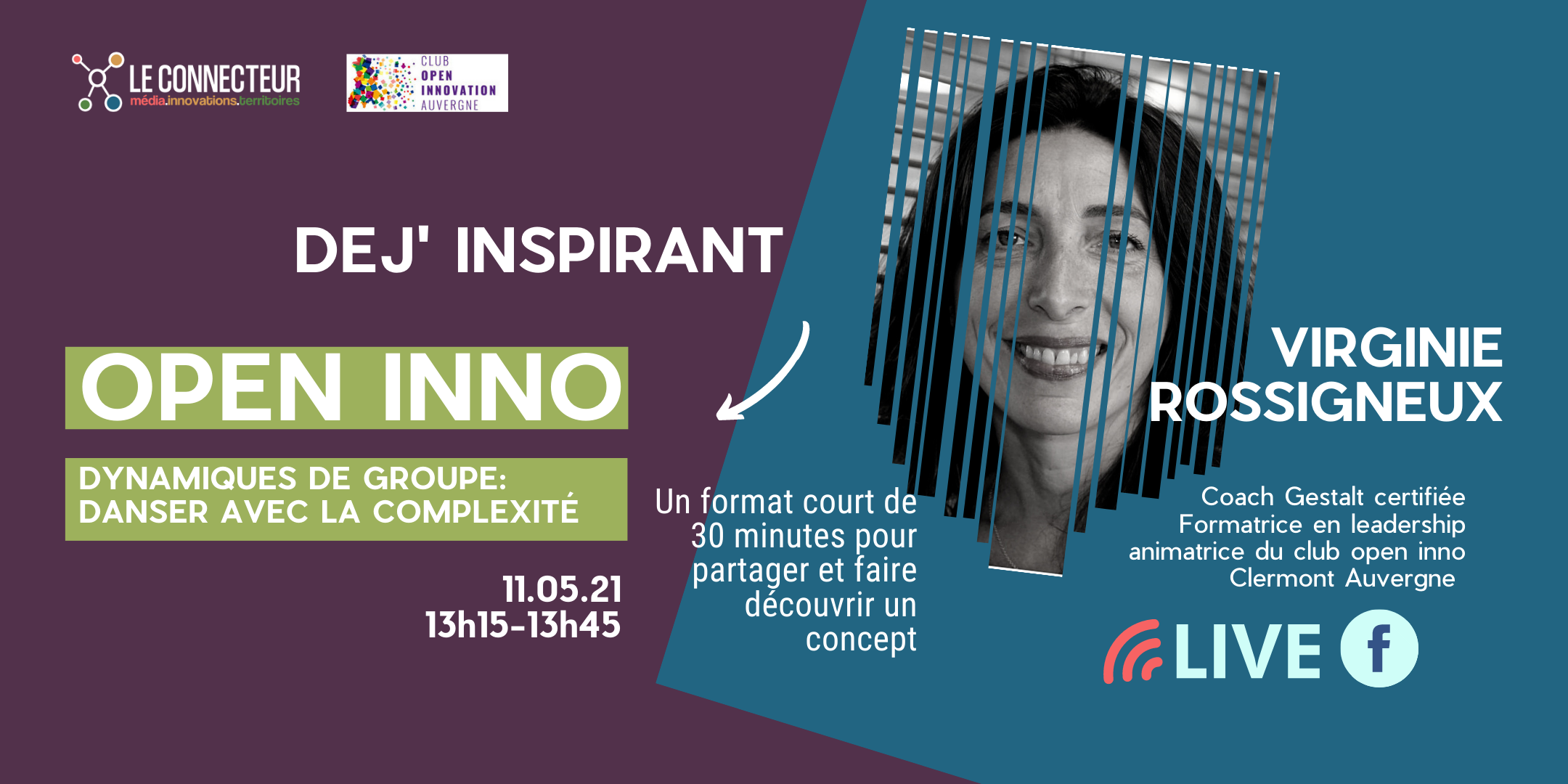 Dej'Inspirant Club Open Inno- Virginie Rossigneux. @ Turing 22 | Clermont-Ferrand | Auvergne-Rhône-Alpes | France