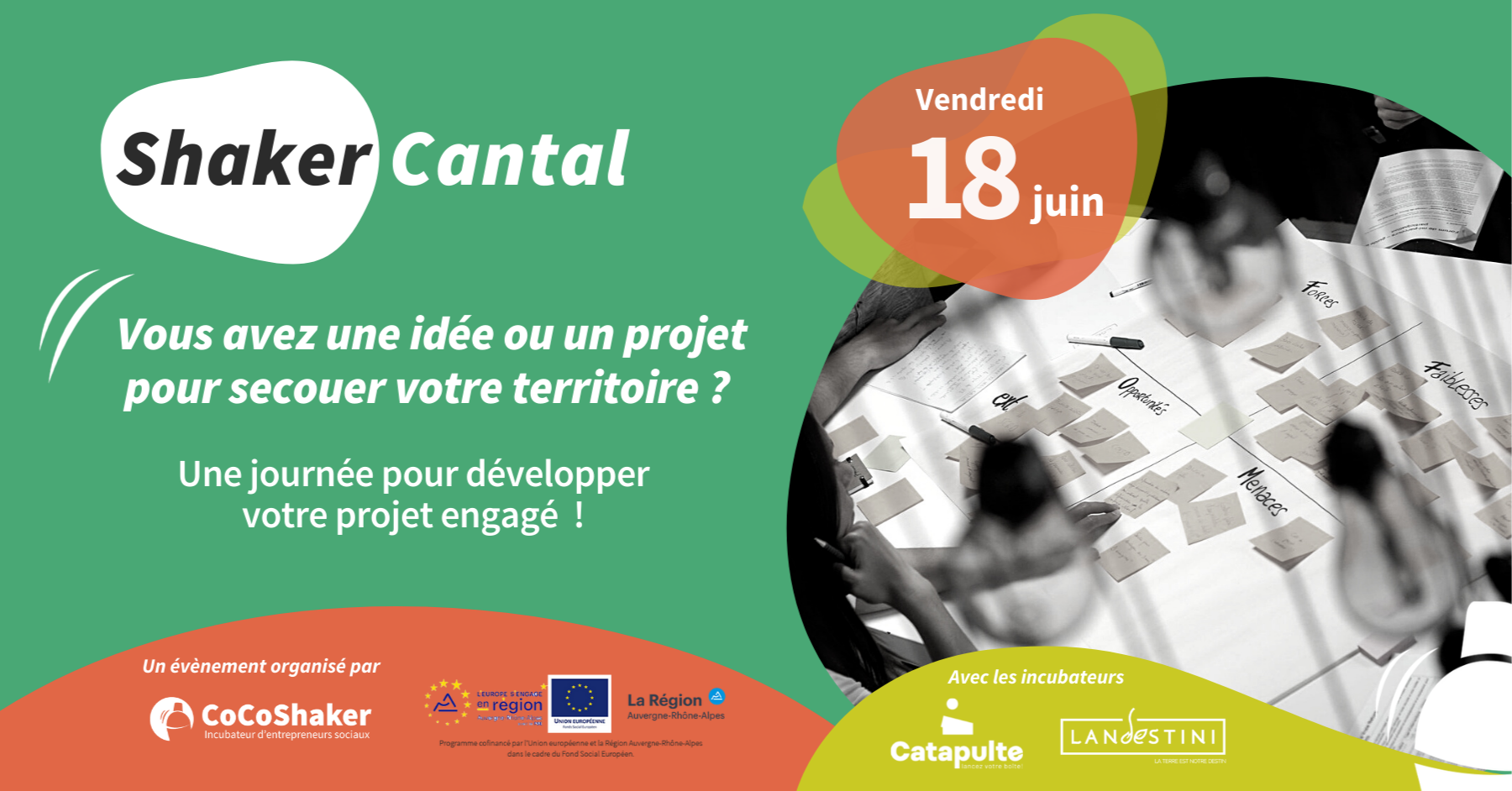 [PRÉSENTIEL] Shaker Cantal - Une journée pour développer son projet engagé ! @ Les Granges numériques   Vic-sur-Cère   Auvergne-Rhône-Alpes   France