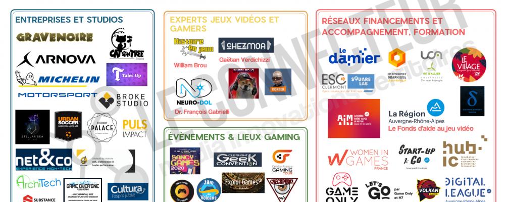 La carto Jeux vidéo en  Auvergne