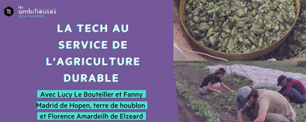 [EN LIGNE] La Tech au service de l'agriculture durable