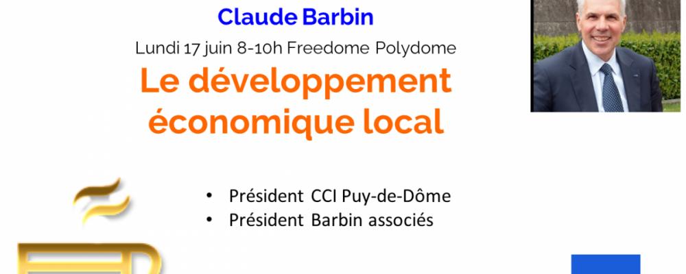 """Petit-déjeuner """"Développement économique local"""" – Claude Barbin"""