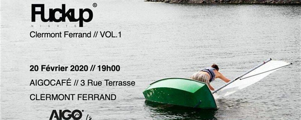 Lancement Fuckup Nights Clermont Ferrand – Vol 1