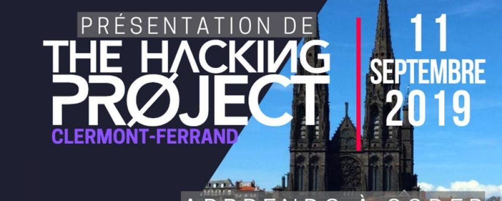 The Hacking Project Clermont-Ferrand automne 2019