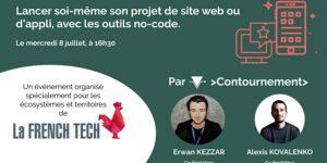 Lancer soi-même son projet de site web ou d'appli, avec les outils no-code @ événement en ligne