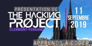 The Hacking Project Clermont-Ferrand automne 2019 @ Clermont-Ferrand | Auvergne-Rhône-Alpes | France