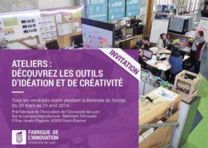 Fabrique de l'Innovation de l'Université de Lyon : ateliers créativité @ Saint-Étienne | Auvergne-Rhône-Alpes | France