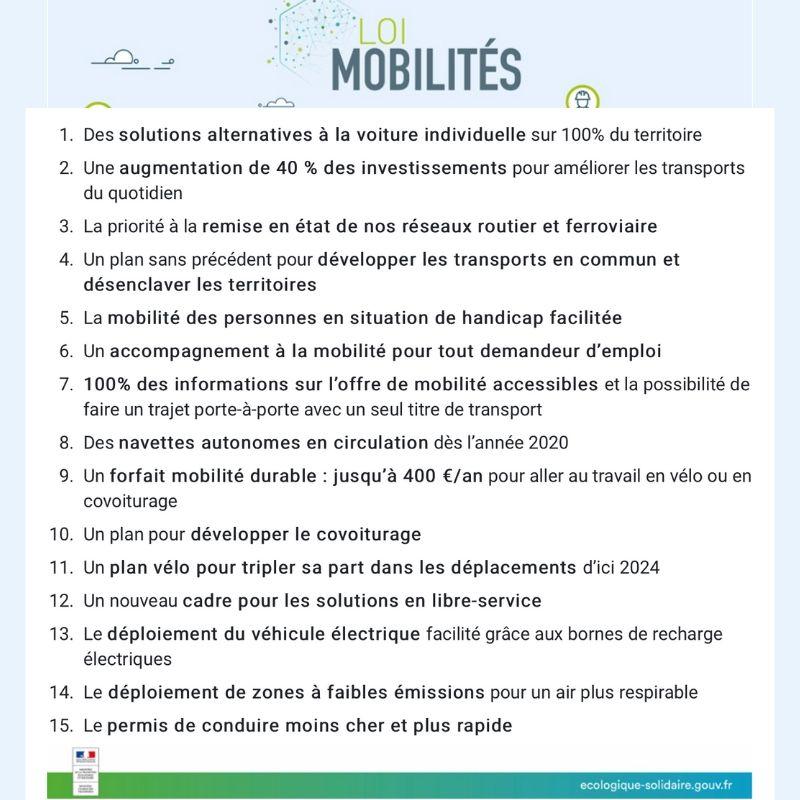 Les 15 mesures clés de LOM