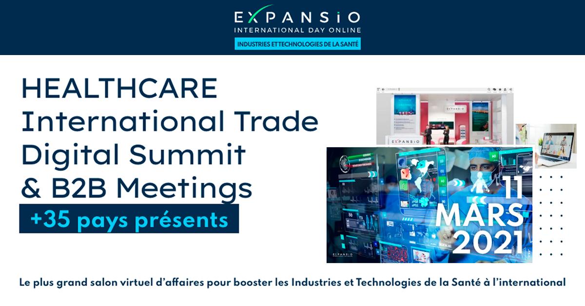 [EN LIGNE] Salon virtuel : HEALTHCARE International Trade Digital Summit & B2B Meetings @ EN LIGNE