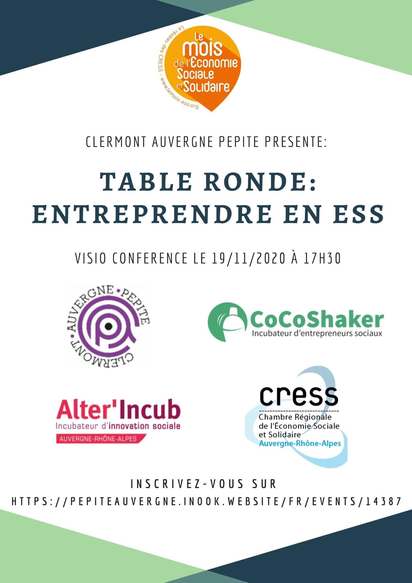 """""""Entreprendre en Economie Social et Solidaire"""" @ En ligne"""