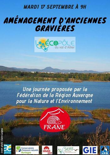 « Aménagement d'anciennes gravières : l'exemple de l'Ecopôle du Val d'Allier » @ Mairie | Pérignat-sur-Allier | Auvergne-Rhône-Alpes | France